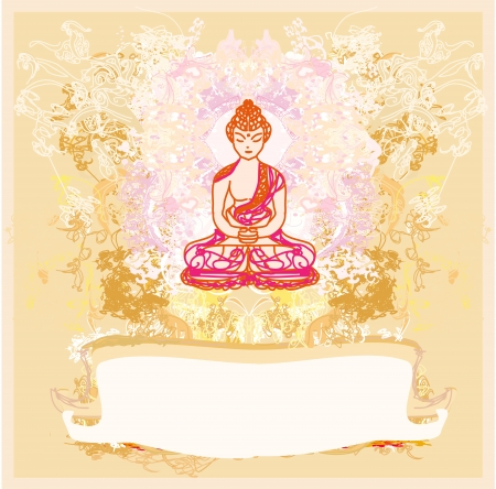 buddism:  Vector of Chinese Traditional Artistic Buddhism Pattern  Illustration
