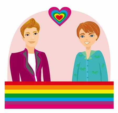 homosexual Couple Stock Vector - 18320800