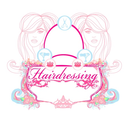 hairdressing salon poster  Vector