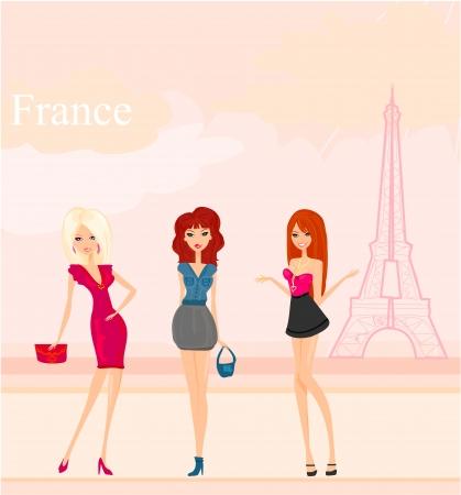 shoptalk: beautiful girls Shopping in Paris
