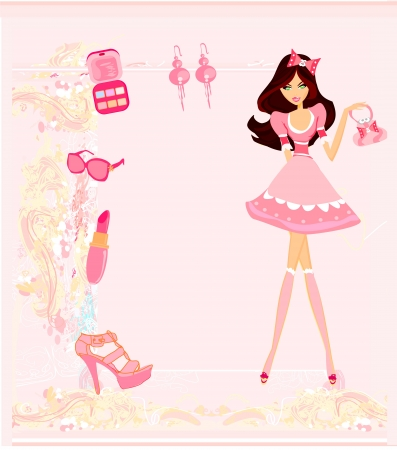 shoptalk: fashion girl Shopping card
