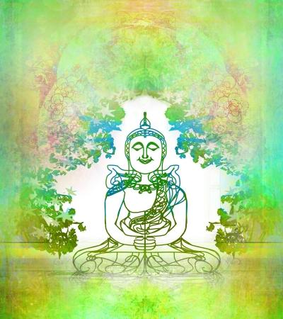 budda:  Chinese Traditional Artistic Buddhism Pattern