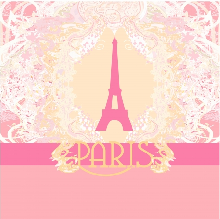 Eiffel tower artistic background. Vector