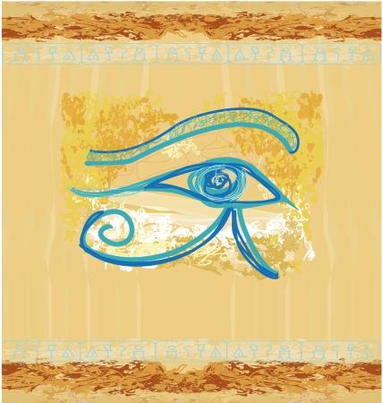 occhio di horus: Occhio di Horus - vintage background