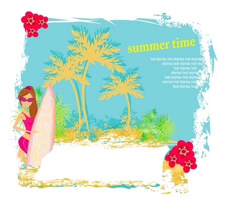 Vertor Surf Beach illustration  Vector