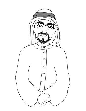 portrait of a smiling arab Vector