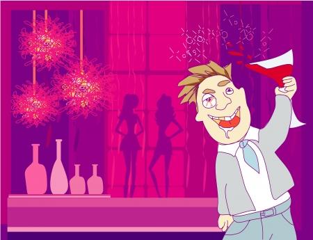 tipsy: Drunk Man in disco