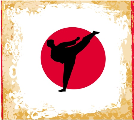 karate Grunge poster  Illustration