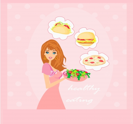Diet eating temptation Stock Vector - 18644068