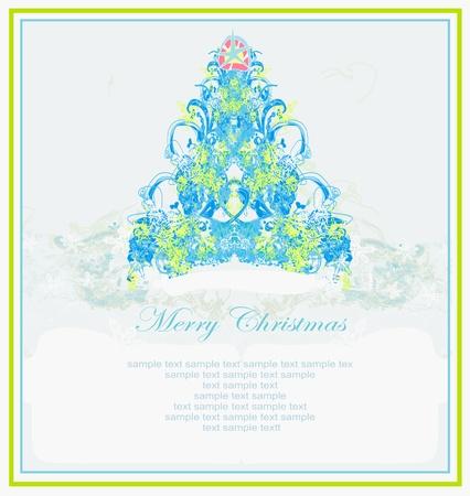 Snowflakes christmas tree Stock Vector - 18644071