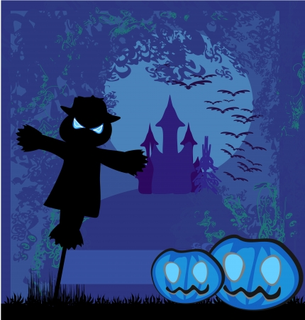 Halloween scary scarecrow Vector