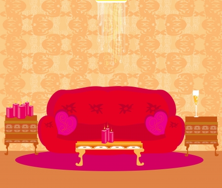 Fashionable interior of living room Stock Vector - 18761507