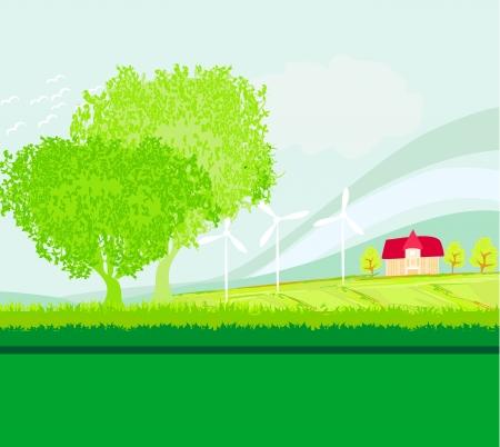 Eco farming - landscapes Stock Vector - 18847355