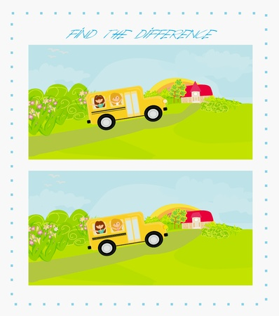 back to school - find the difference Stock Vector - 18847318