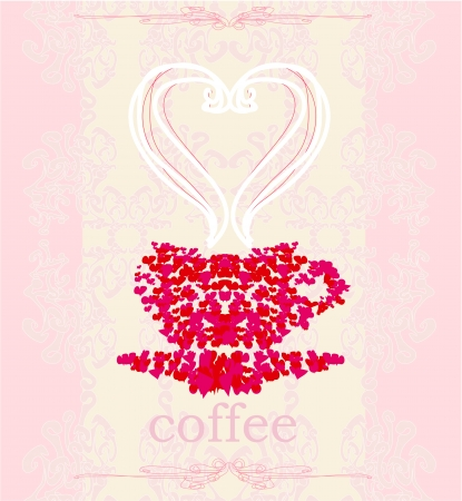 coffee cup from hearts