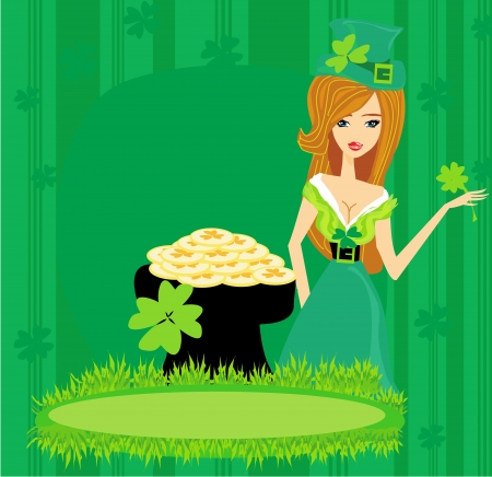 Greeting card for the holiday St. Patricks Day  Vector