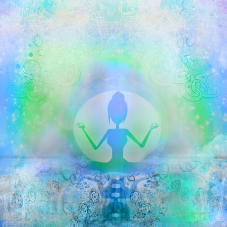 energia espiritual: Yoga y espiritualidad Foto de archivo