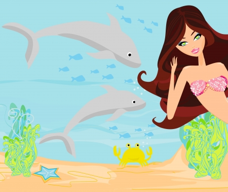 Illustration of a Beautiful mermaid Stock Vector - 18982242
