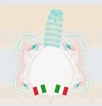 Pisa tower card Stock Vector - 19022927