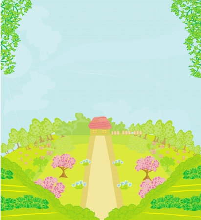 Landscape - Farm and fields  Stock Vector - 19022938