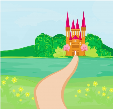 Magic Fairy Tale Princess Castle  Stock Vector - 19050650
