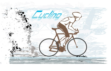 Cycling Grunge Poster  Vector