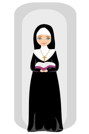 klerus: Vektor-Illustration der Nonne Illustration