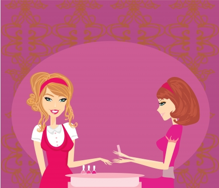 manicure salon: girl doing manicure in beauty salon