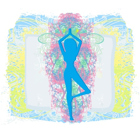 woman in a traditional yoga pose vector illustration Stock Vector - 19187523