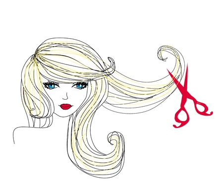 Friseur macht Frisur im Beauty-Salon Standard-Bild - 19263219