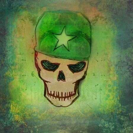 war grunge skull  Stock Photo - 19339462