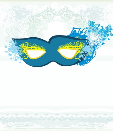 Vector blue venetian carnival mask  Stock Vector - 19502855