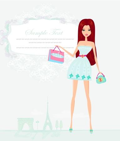 hermosas mujeres de compras en Par?s
