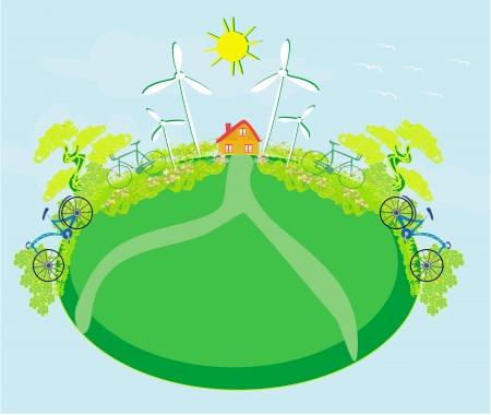 Eco farming - landscapes Stock Vector - 19502870