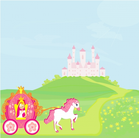 Princess in carriage Stock Vector - 19631001
