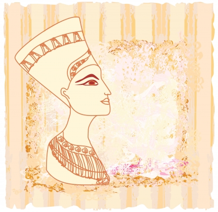 cleopatra: old paper with Egyptian queen cleopatra