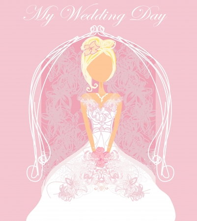 getting a bride: Abstract Beautiful floral bride card