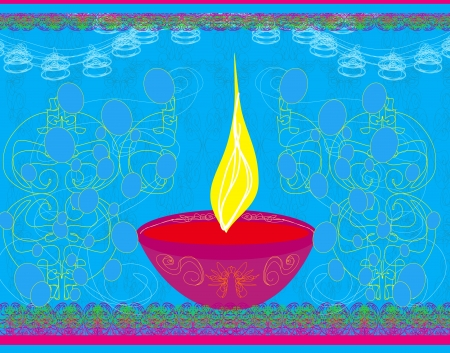 deepawali backdrop:  abstract diwali celebration background illustration