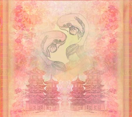 japanese koi background  photo
