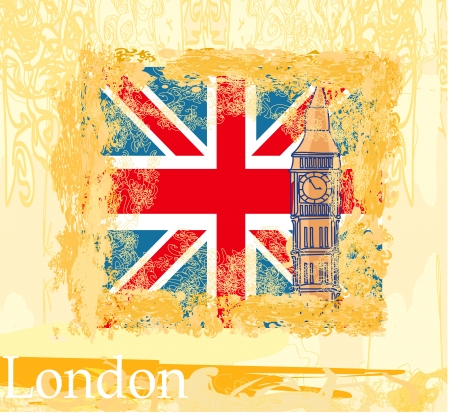 bigben:  Grunge banner with London