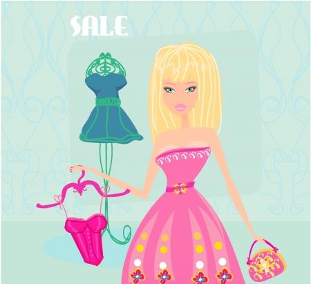 Stylish woman shopping