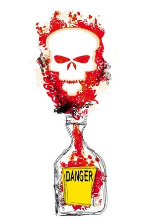 bottle of poison Stock Vector - 20194387