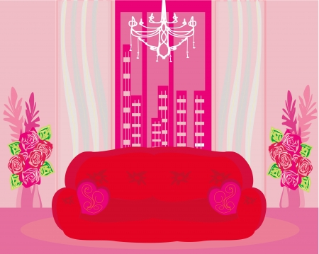 Fashionable inter of living room - vector  Stock Vector - 20194389