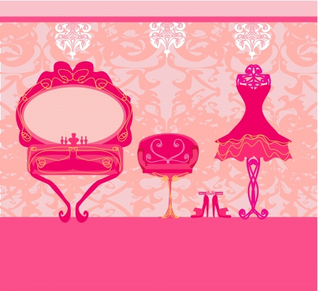 boudoir: elegant style dressing room