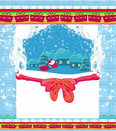 Illustration of funny santa claus  Vector