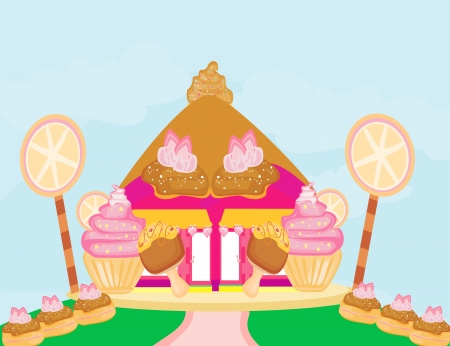 food store: Candy house  Illustration