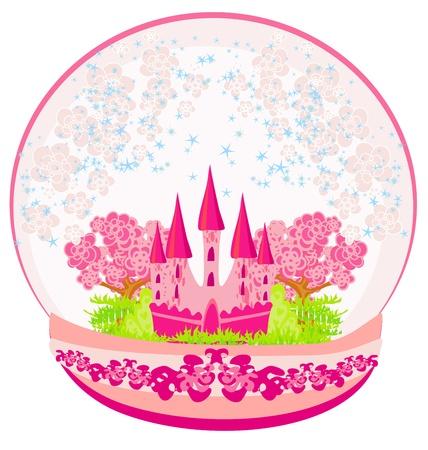 flaglets: Illustration of a pink castle inside the dome  Illustration