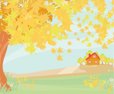 Beautiful vector autumn landscape Stock Vector - 20337297