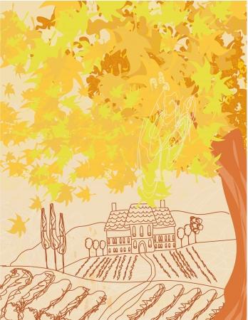 Beautiful autumn landscape  Stock Photo - 20415601