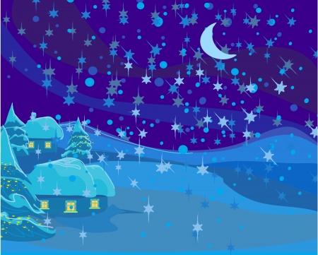 winter landscape, Christmas scene photo